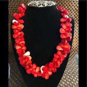 Jewelry - Vintage Set of Red Coral Teardrop Jewelry